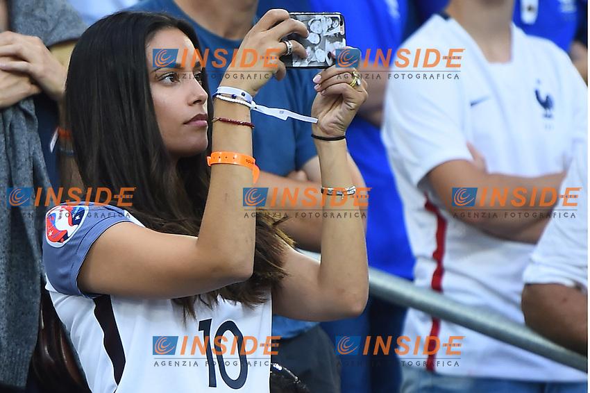 La moglie di Andre Pierre Gignac Wife <br /> Marseille 15-06-2016 Stade du Velodrome <br /> Football Euro2016 France-Albanie/Francia-Albania Group Stage Group A<br /> Foto Massimo Insabato / Insidefoto