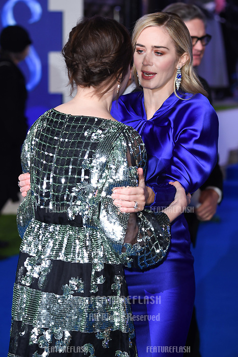 "LONDON, UK. December 12, 2018: Emily Mortimer & Emily Blunt at the UK premiere of ""Mary Poppins Returns"" at the Royal Albert Hall, London.<br /> Picture: Steve Vas/Featureflash"