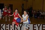 Fianait O'Donoghue Killarney Cougars and Michaela O'Connor Killorglin contest the loose ball.