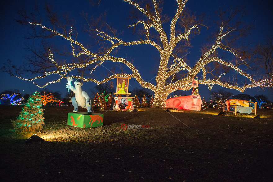 Zilker Park Trail of Lights returned to its former glory in the heart of Austin with Legend of Nessie the Ultimate Loch Ness Monster magical display