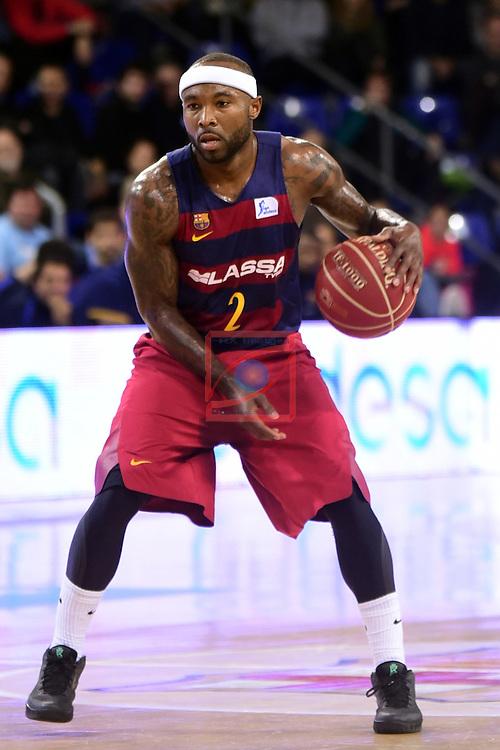 League ACB-ENDESA 2016/2017 - Game: 13.<br /> FC Barcelona Lassa vs Divina seguros Joventut: 79-77.<br /> Tyrese Rice.