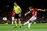 Daley Blind of Manchester United fires a shot at goal during the UEFA Europa League match at Old Trafford, Manchester. Picture date: November 24th 2016. Pic Matt McNulty/Sportimage