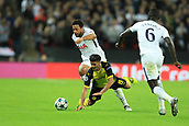 13th September 2017, Wembley Stadium, London, England; Champions League Group stage, Tottenham Hotspur versus Borussia Dortmund; Mousa Dembele of Tottenham Hotspur fouls Mahmoud Dahoud of Borussia Dortmund