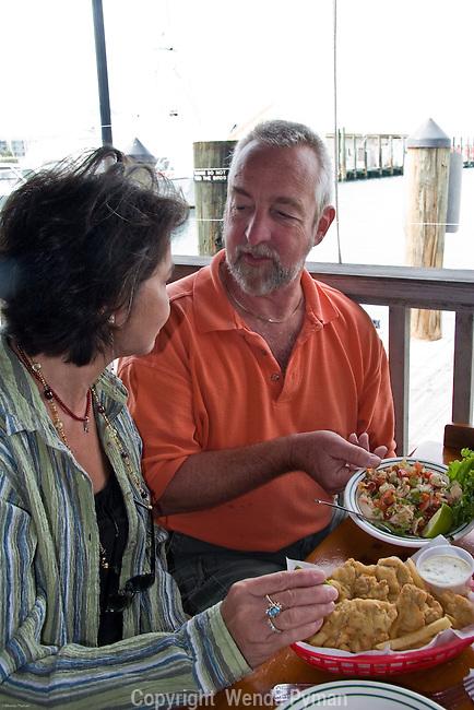 Local fare at the Half Shell: conch ceviche.