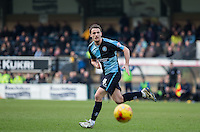 Stephen McGinn of Wycombe Wanderers in action during the Sky Bet League 2 match between Wycombe Wanderers and Bristol Rovers at Adams Park, High Wycombe, England on 27 February 2016. Photo by Andrew Rowland.