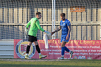 lewis Todd of Walthamstow and Vinny Murphpy of Walthamstow during Walthamstow vs Sawbridgeworth Town, Essex Senior League Football at Wadham Lodge Sports Ground on 8th February 2020