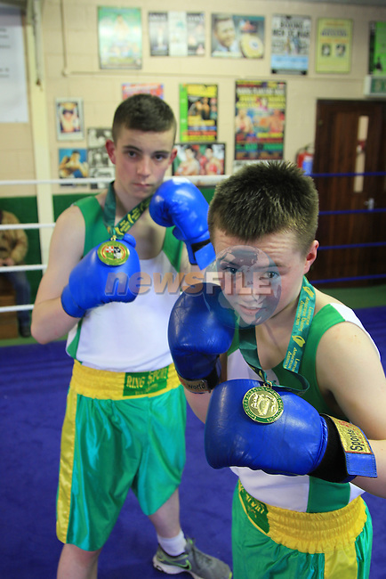Holy Family Boxing club members Michael Walsh and Ben Bannon.Picture: Picture Fran Caffrey www.newsfile.ie.
