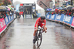 Morten Hulgaard of Denmark powers off the start ramp during the Men's Under 23 Individual Time Trial of the UCI World Championships 2019 running 30.3km from Ripon to Harrogate, England. 24th September 2019.<br /> Picture: Alex Whitehead/SWPix.com | Cyclefile<br /> <br /> All photos usage must carry mandatory copyright credit (© Cyclefile | Alex Whitehead/SWPix.com)