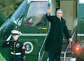 Washington, D.C. - November 22, 2005 -- United States President George W. Bush departs the South Lawn of the White House en route to his ranch in Crawford, Texas.  He was accompanied by first lady Laura Bush and other members of their family.<br /> Credit: Ron Sachs / CNP