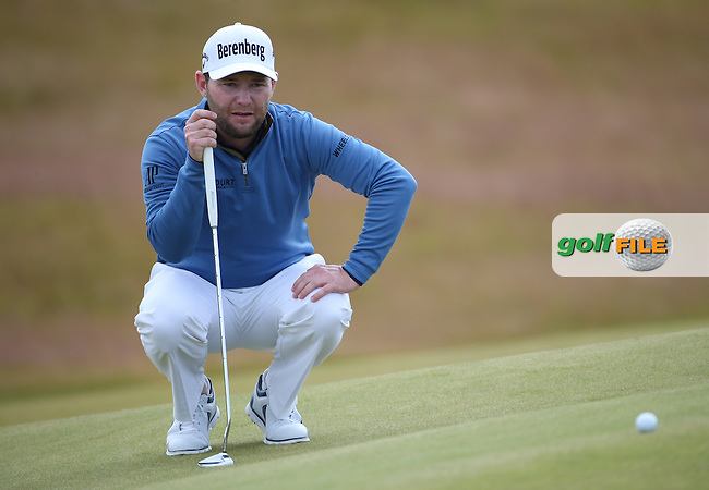 Branden Grace (RSA) in action during Round Two of the 2016 Aberdeen Asset Management Scottish Open, played at Castle Stuart Golf Club, Inverness, Scotland. 08/07/2016. Picture: David Lloyd | Golffile.<br /> <br /> All photos usage must carry mandatory copyright credit (&copy; Golffile | David Lloyd)