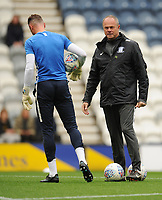 Preston North End Goalkeeping Coach Jonathan Gould during the pre-match warm-up <br /> <br /> Photographer Kevin Barnes/CameraSport<br /> <br /> The EFL Sky Bet Championship - Preston North End v Barnsley - Saturday 5th October 2019 - Deepdale Stadium - Preston<br /> <br /> World Copyright © 2019 CameraSport. All rights reserved. 43 Linden Ave. Countesthorpe. Leicester. England. LE8 5PG - Tel: +44 (0) 116 277 4147 - admin@camerasport.com - www.camerasport.com
