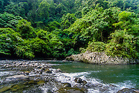 Indonesia, Sumatra. Bukit Lawang. Gunung Leuser nasjonalpark, the Bohorok river. From here it is possible to float down the river on a rafting tube. A perfect way to end a hard day of jungle trekking.