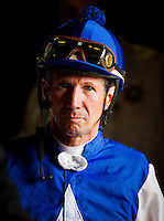 July 20, 2014: Jockey, Stuart Elliot at Del Mar Race Track in Del Mar CA. Alex Evers/ESW/CSM