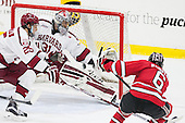 Wiley Sherman (Harvard - 25), Merrick Madsen (Harvard - 31), Phil Hampton (RPI - 6) - The Harvard University Crimson defeated the visiting Rensselaer Polytechnic Institute Engineers 5-2 in game 1 of their ECAC quarterfinal series on Friday, March 11, 2016, at Bright-Landry Hockey Center in Boston, Massachusetts.