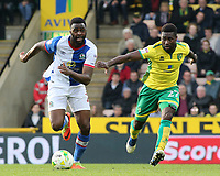 Blackburn Rovers' Ryan Nyambe gets away from Norwich City's Alexander Tettey<br /> <br /> Photographer David Shipman/CameraSport<br /> <br /> The EFL Sky Bet Championship - Norwich City v Blackburn Rovers - Saturday 11th March 2017 - Carrow Road - Norwich<br /> <br /> World Copyright &copy; 2017 CameraSport. All rights reserved. 43 Linden Ave. Countesthorpe. Leicester. England. LE8 5PG - Tel: +44 (0) 116 277 4147 - admin@camerasport.com - www.camerasport.com
