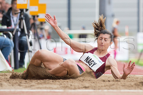26.06.2016. Ratingen, Germany.  Romanian heptathlete Judith Nagy in action during the long jump segment at the Combined Events Challenge meeting in Ratingen, Germany, 26 June 2016.