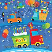 Sarah, CHILDREN BOOKS, BIRTHDAY, GEBURTSTAG, CUMPLEAÑOS, paintings+++++BdayTrucks-16-A,USSB58,#BI# ,everyday ,everyday