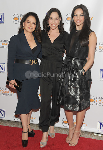 NEW YORK, NY - MAY 09: Gloria Estefan, Andrea Burns, Ana Villafane  attend the 11th Annual Family Equality Council Night at the Pier at Pier 60 on May 9, 2016 in New York City.  Photo Credit: John Palmer/Media Punch