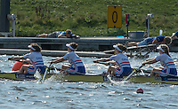 Rotterdam. Netherlands.   Junior SEMI FINAL A/B, GBR JW4- GBR JW4-, India Somerside, Bryony Lawrence, Frances Russell and Alex Rankin, move of  the start at the  2016 JWRC, U23 and Non Olympic Regatta. {WRCH2016}  at the Willem-Alexander Baan.   Saturday  27/08/2016 <br /> <br /> [Mandatory Credit; Peter SPURRIER/Intersport Images]