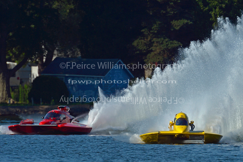 "NM-88 and Scott Liddycoat, NM-30 ""Pennzoil Big Bird""    (National Mod hydroplane(s)"