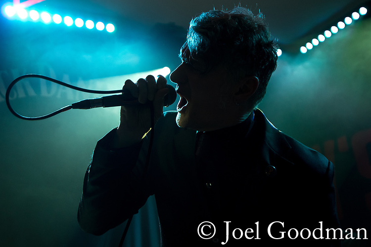 © Joel Goodman - 07973 332324 - all rights reserved . NO ONWARD SALE, TRANSFER OR SYNDICATION PERMITTED . 09/04/2018 . Manchester , UK . DUNSTAN BRUCE . Interrobang play live at Jimmy's . Photo credit : Joel Goodman