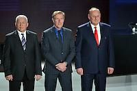 23.02.2013. Nice, France. UEFA Drawing fo the 2016 UEFA EURO Championships. Jan Tomaszewski, Hans Van Breukelen, Ivo Viktor