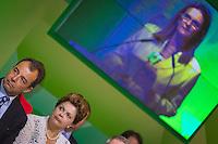 RIO DE JANEIRO, RJ, 13 DE FEVEREIRO DE 2012 - Cerimônia de Posse da nova Presidente da Petrobrás  - A Presidente Dilma Roussef ao lado do Governador do Rio de Janeiro, Sérgio Cabral, na cerimônia de tomada de posse da nova Presidente da Petrobras, Graça Foster, na sede da Petrobras.<br /> FOTO GLAICON EMRICH - NEWS FREE