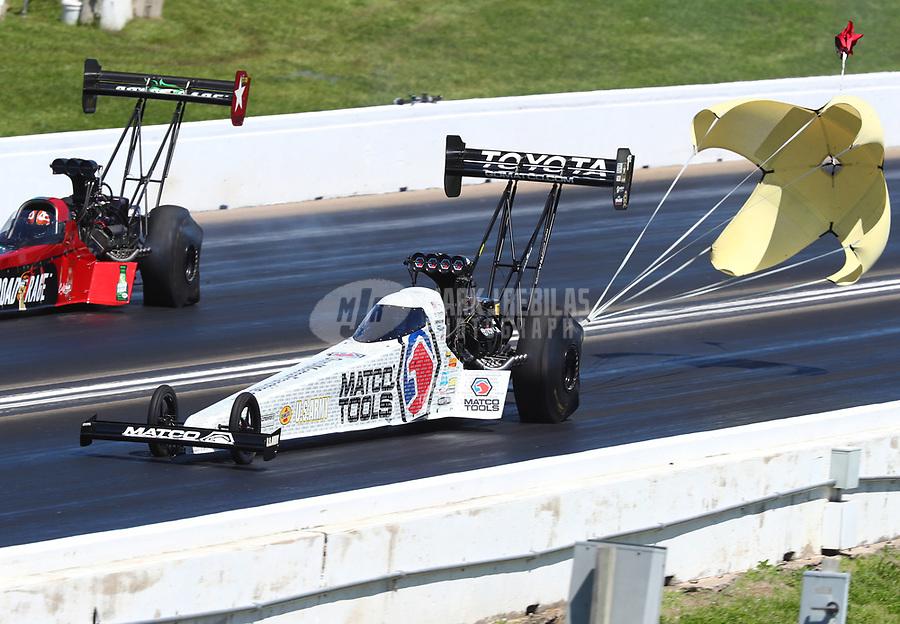 May 21, 2017; Topeka, KS, USA; NHRA top fuel driver Antron Brown during the Heartland Nationals at Heartland Park Topeka. Mandatory Credit: Mark J. Rebilas-USA TODAY Sports
