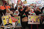 "Relatives of Palestinian prisoners in Israeli jails, take part in a protest to show solidarity with Palestinians clashing with Israeli security forces at Jerusalem's al-Aqsa mosque, outside the Red Cross office, in Gaza city October 5, 2015. Tensions have been further inflamed by frequent clashes between Palestinian rock-throwers and Israeli security forces at Jerusalem's al-Aqsa mosque compound. Palestinians have said they fear increasing visits by Jewish groups to al-Aqsa compound, revered by Jews as the site of Biblical temples, are eroding Muslim religious control there. The sign (top) reads, ""Together to liberate al-Aqsa mosque"". Photo by Ashraf Amra"