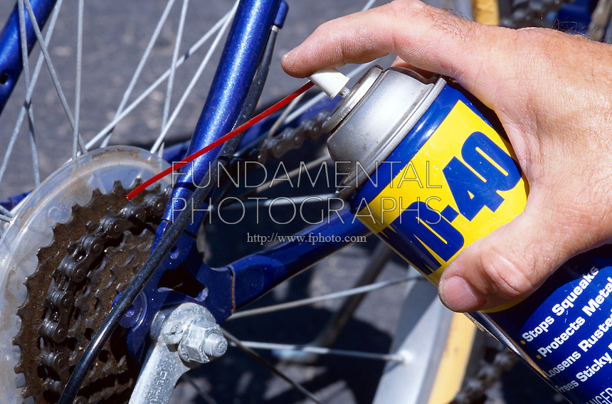 BICYCLE GEARS &amp; BRAKES<br /> Applying WD-40 to Bicycle Gears