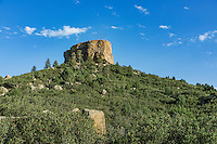 Castle Rock landmark, Castle Rock, Colorado, USA