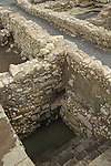 Israel, a 2000 years old Mikveh at the Archaeological Park in Magdala Center by the Sea of Galilee