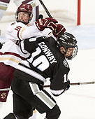 Christopher Brown (BC - 10), Scott Conway (PC - 10) - The Boston College Eagles defeated the visiting Providence College Friars 3-1 on Friday, October 28, 2016, at Kelley Rink in Conte Forum in Chestnut Hill, Massachusetts.The Boston College Eagles defeated the visiting Providence College Friars 3-1 on Friday, October 28, 2016, at Kelley Rink in Conte Forum in Chestnut Hill, Massachusetts.