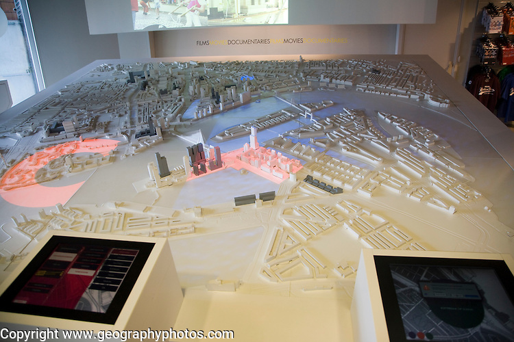 City model of Rotterdam in tourist information building, Rotterdam, Netherlands