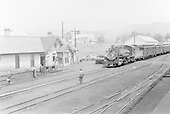 D&amp;RGW #484 arriving at Chama with westbound San Juan.  (Probably late 1930's to early 1940's)<br /> D&amp;RGW  Chama, NM  ca 1930-1940