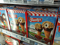 Containers of Friendly's brand ice cream in a supermarket freezer in New York on Tuesday, May 10, 2016. Dean Foods, the largest U.S. milk processor, is buying Friendly's ice cream for $155 million. The Friendly's restaurants are not part of the deal. (©Richard B. Levine)