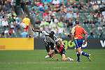 Zimbabwe VS Cayman Island during    HSBC Hong Kong Rugby Sevens 2016on 08 April 2016 at Hong Kong Stadium in Hong Kong, China. Photo by Li Man Yuen / Power Sport Images
