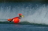 """Dean Sutherland """"center punched"""" a bouy with 222-M.  (runabout)"""