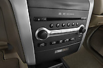Stereo audio system close up detail view of a 2009 Nissan Murano