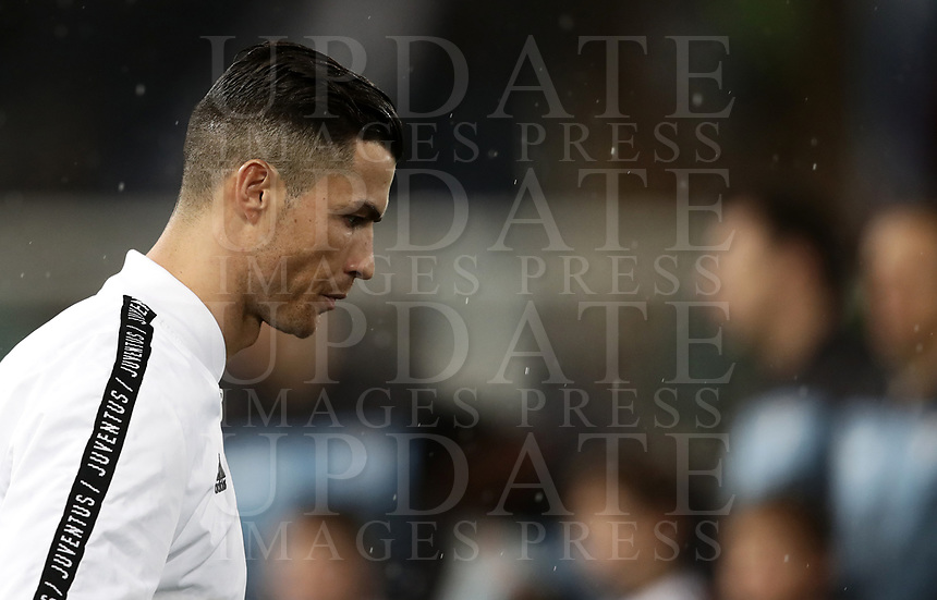 Football, Serie A: S.S. Lazio - Juventus, Olympic stadium, Rome, January 27, 2019. <br /> Juventus' Cristiano Ronaldo prior to the Italian Serie A football match between S.S. Lazio and Juventus at Rome's Olympic stadium, Rome on January 27, 2019.<br /> UPDATE IMAGES PRESS/Isabella Bonotto
