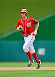 20 May 2012: Washington Nationals pitcher Stephen Strasburg rounds the bases after hitting a home run - the first of his professional career - against the Baltimore Orioles at Nationals Park in Washington, DC. The Nationals defeated the Orioles 9-3 to salvage the third game of their 3-game series. Mandatory Credit: Ed Wolfstein Photo