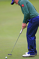 Paul Dunne (IRL) putts on the 9th green during Saturday's Round 3 of the 2017 Omega European Masters held at Golf Club Crans-Sur-Sierre, Crans Montana, Switzerland. 9th September 2017.<br /> Picture: Eoin Clarke | Golffile<br /> <br /> <br /> All photos usage must carry mandatory copyright credit (&copy; Golffile | Eoin Clarke)