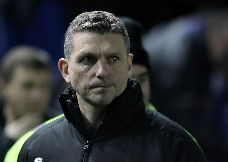 Macclesfield Town's Manager John Askey <br /> <br /> Photo by Rich Linley/CameraSport<br /> <br /> Football - FA Challenge Cup Third Round replay - Sheffield Wednesday v Macclesfield Town - Tuesday 14th January 2014 - Hillsborough - Sheffield<br /> <br />  &copy; CameraSport - 43 Linden Ave. Countesthorpe. Leicester. England. LE8 5PG - Tel: +44 (0) 116 277 4147 - admin@camerasport.com - www.camerasport.com