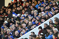 Bath fans in the crowd show their support. European Rugby Champions Cup match, between RC Toulon and Bath Rugby on December 9, 2017 at the Stade Mayol in Toulon, France. Photo by: Patrick Khachfe / Onside Images
