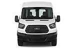 Car photography straight front view of a 2018 Ford Transit 250 Van Med Roof Sliding Pass. 130 WB 2 Door Van Front View
