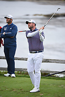 Marc Leishman (AUS) watches his tee shot on 7 during round 2 of the 2019 US Open, Pebble Beach Golf Links, Monterrey, California, USA. 6/14/2019.<br /> Picture: Golffile | Ken Murray<br /> <br /> All photo usage must carry mandatory copyright credit (© Golffile | Ken Murray)