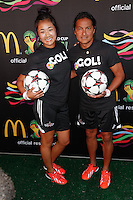 New York, NY -  June 5 : James Ortega and Caitlyn Schrepser attend the 2014 FIFA World Cup McDonald's Launch Party at Pillars 38 on June 5, 2014 in New York City. Photo by Brent N. Clarke / Starlitepics