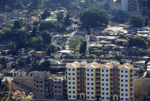 Sao Paulo, Brazil. Aerial view of the Cingapura social housing scheme.