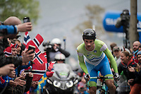 Primoz Roglic (SVK/LottoNL-Jumbo) cheered up Mont Fløyen on his way to silver<br /> <br /> Men Elite Individual Time Trial<br /> <br /> UCI 2017 Road World Championships - Bergen/Norway