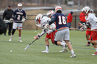 Liberty University's Men's Lacrosse Team plays Auburn University at the lacrosse fields on March 29, 2014 (Photo by Lizzy Benson).